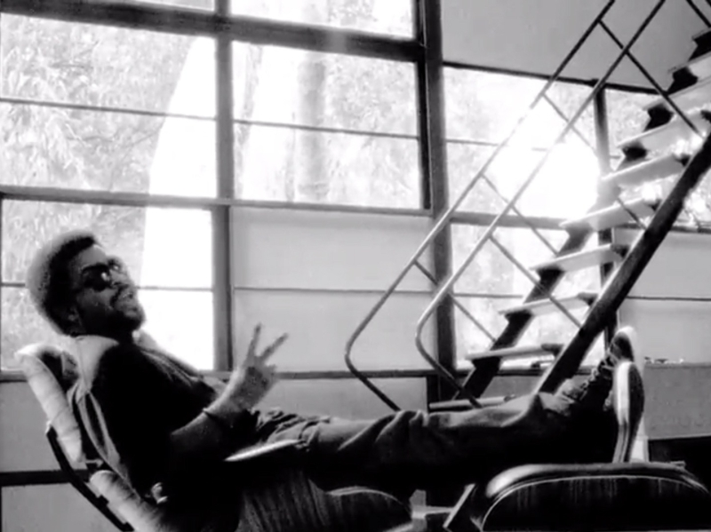 Ice Cube celebrating the Eames Lounge Chair